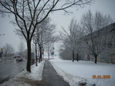 Nieve en la Facultad de Educación