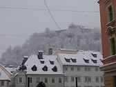 Ljubljanski grad nevado