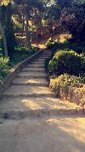 Park Güell winding staircase