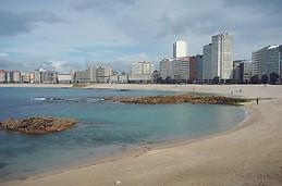 Playa Riazor.