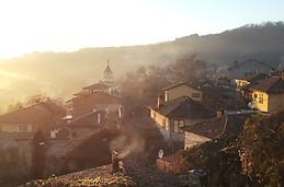 Um por-do-sol em Veliko Tarnovo