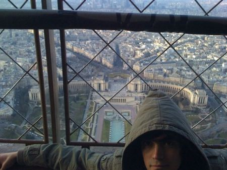 from top of the Eiffel, Paris