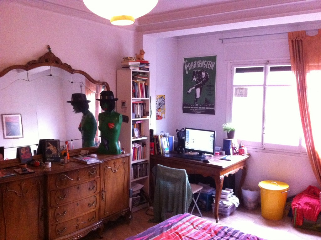 Big sunny room in a quiet zone in lavapies madrid center for Casa encendida