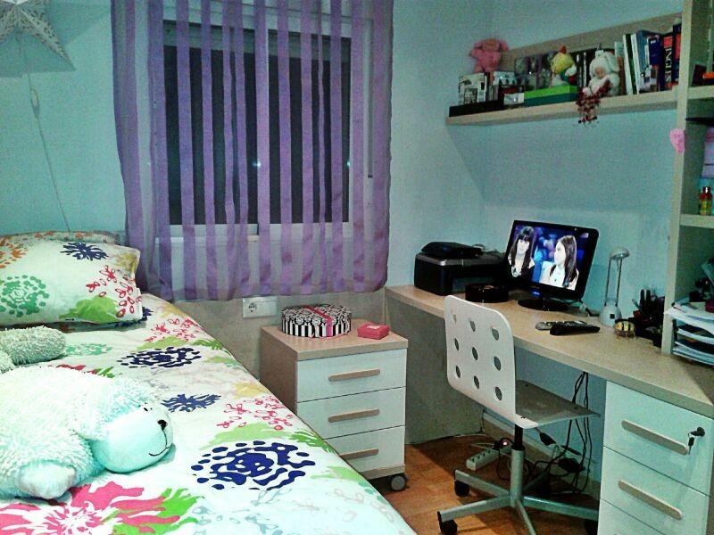 habitación individual con baño privado en zona bien ...
