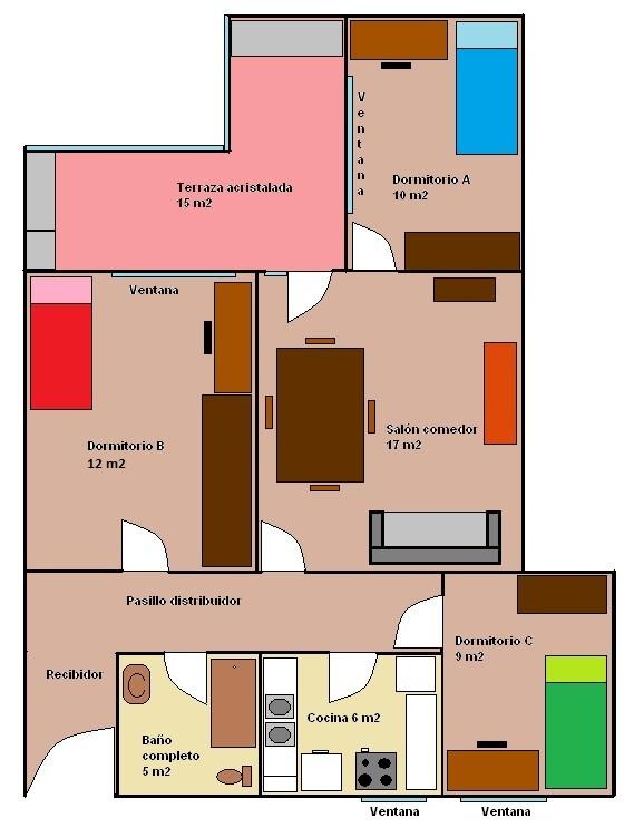 Piso madrid 3 dormitorios grandes junto universidad for Pisos grandes en madrid