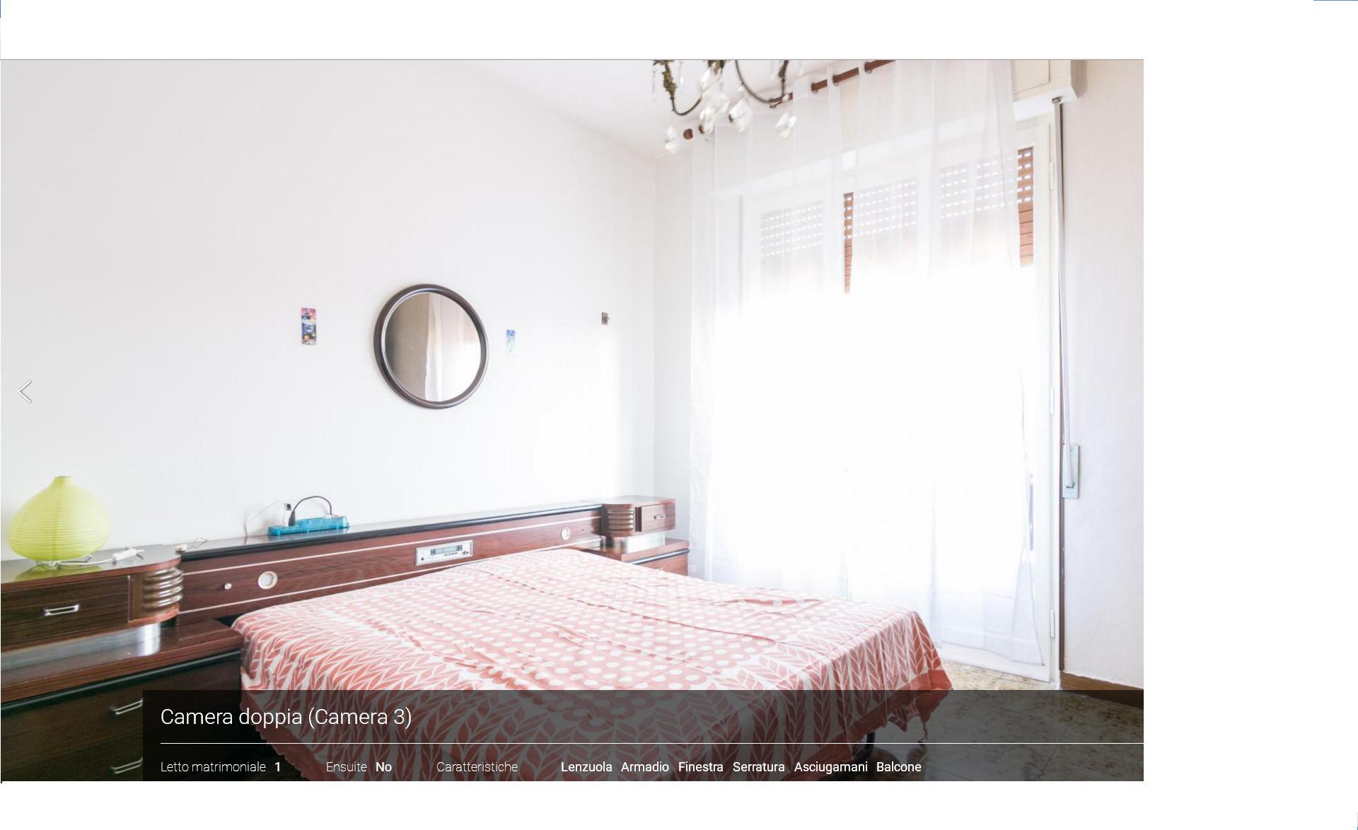 Stanza restaurata 25 mq con letto matrimoniale for Stanza da letto matrimoniale