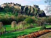 Princes Street Gardens and Edinburgh Castle