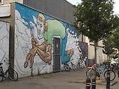 Grafitti near Overpoortstraat