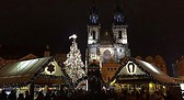 Plaza vieja en Navidad