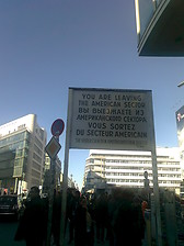 The sign at the former East–West Berlin border