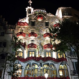 Casa Batloo with roses