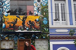 En el centro colorido de Bogotá