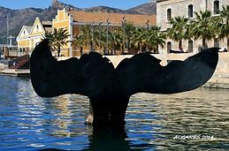 Escultura Cola de Ballena - Puerto de Cartagena (España )