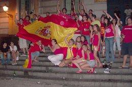 Celebrando la Eurocopa, junio '08- Piazza Bellini
