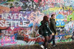 John Lennon's wall :)