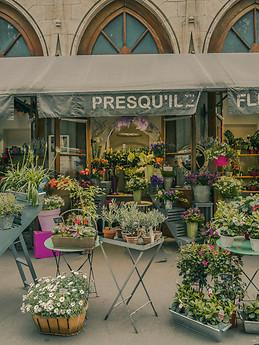 Kwiaciarnia w Lyonie