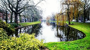 Lake nearby city center, Rotterdam