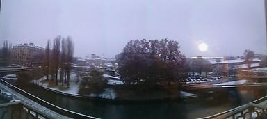 panorama invernale davanti casa