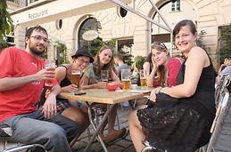 Paris with friends.