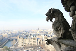 The monster on the top of Notre-Dame Paris