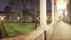 Universita cattolica in the evening