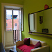 coloured and funny room in shared apartment in the hearth of Cat