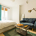 Large furnished bedroom in a cosy apartment, with an option to l