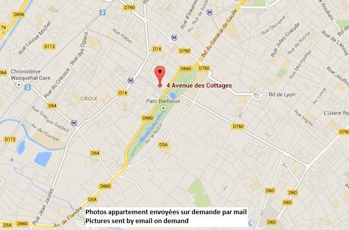 16 m2 room in Roubaix flat Lille area close to EDHEC school Room