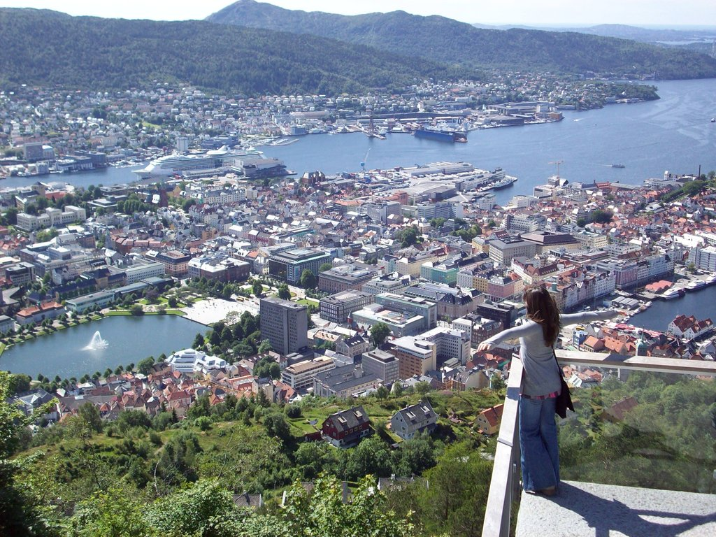 Bergen desde monte Floyen