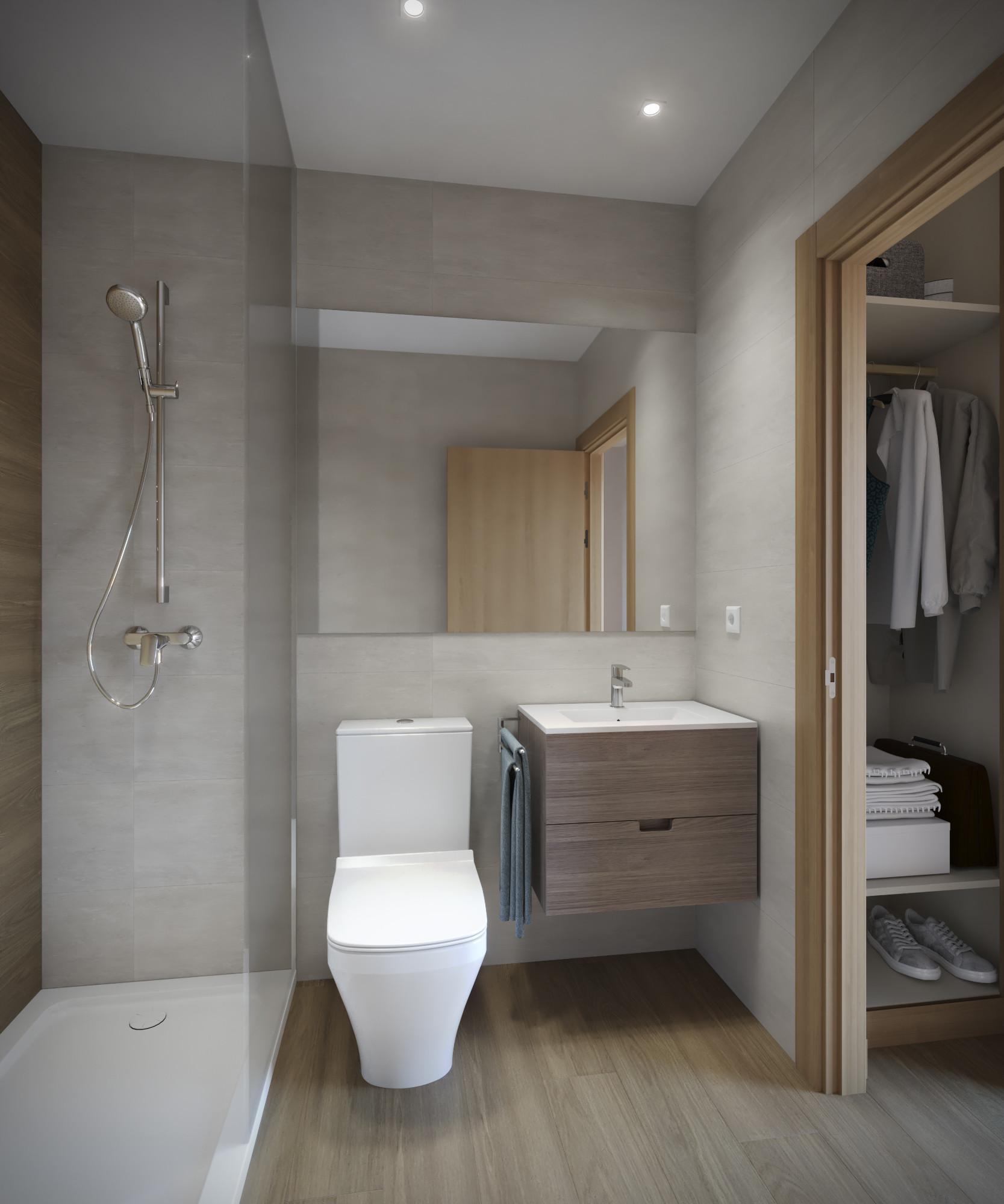 Habitación individual con baño privado en Residencia de ...