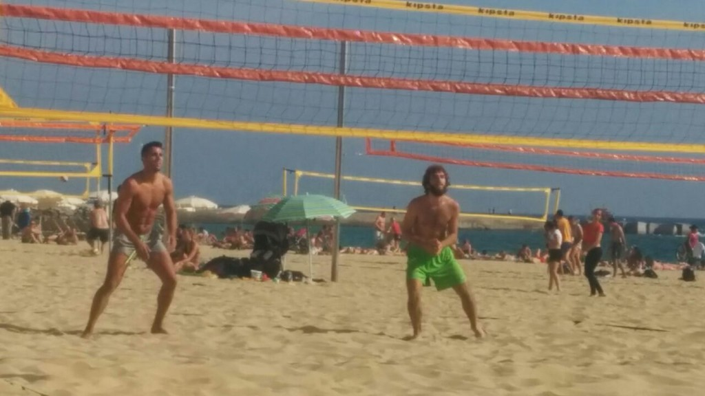 A beach in Barcelona where you can play beach volleyball