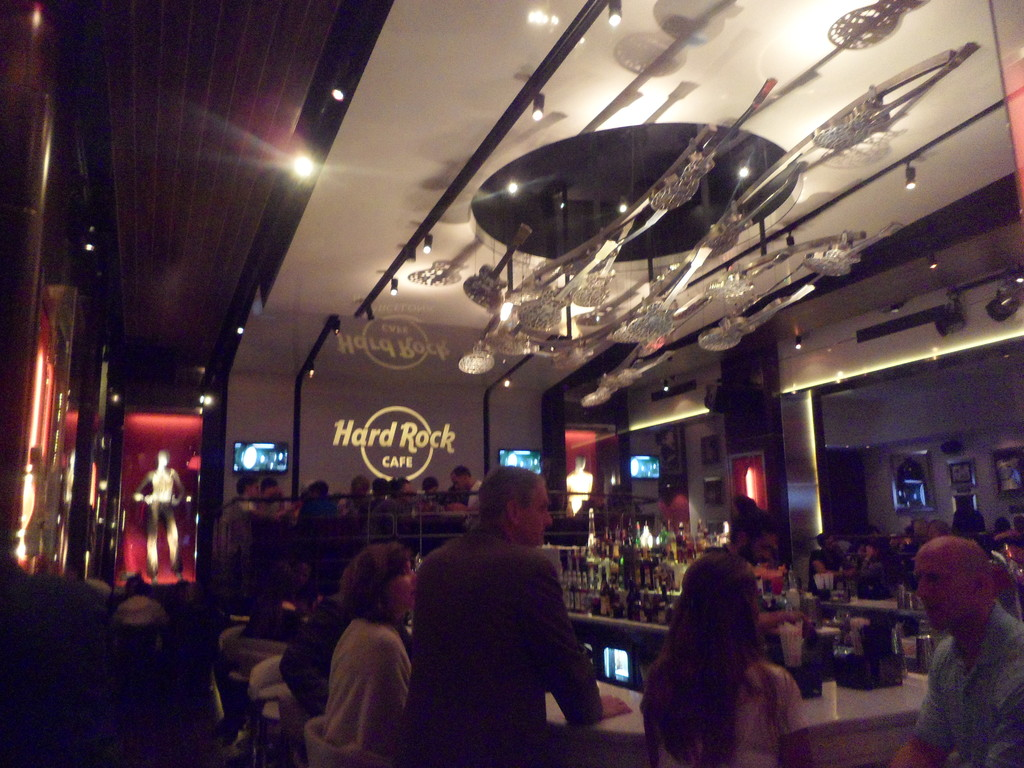 A full belly at the Hard Rock Cafe