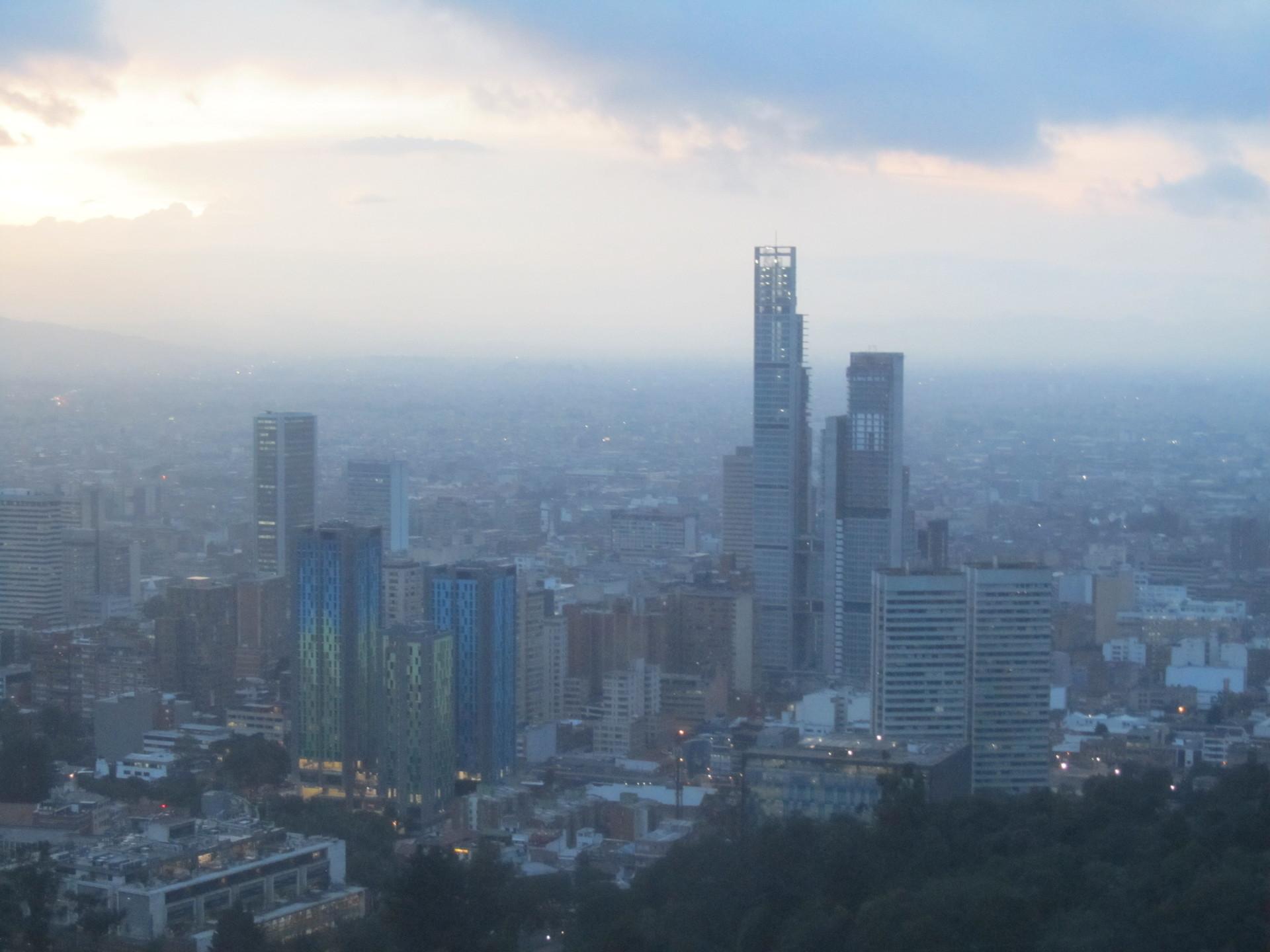 A panoramic of Bogotá