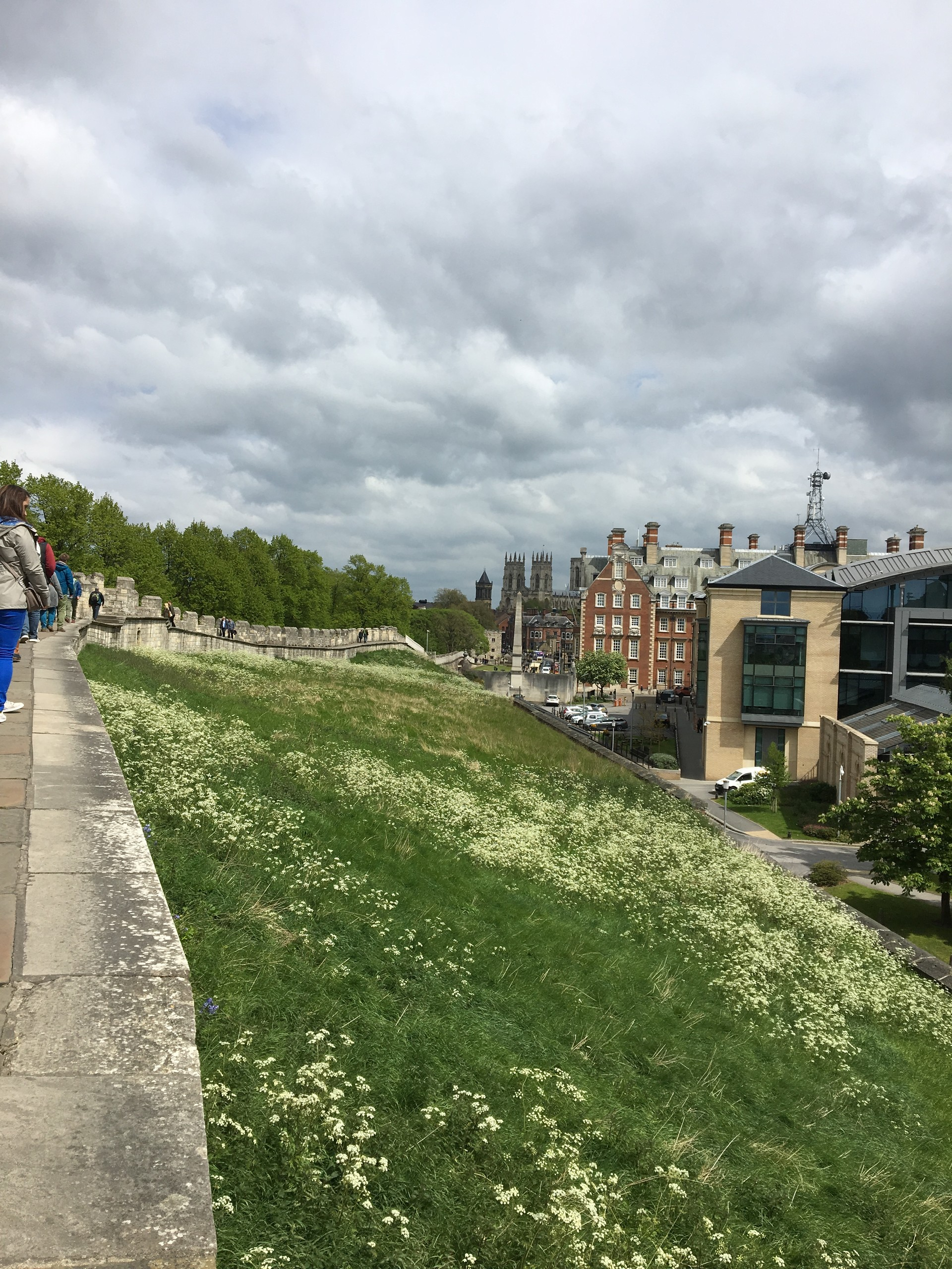 A walk around the old city walls of York