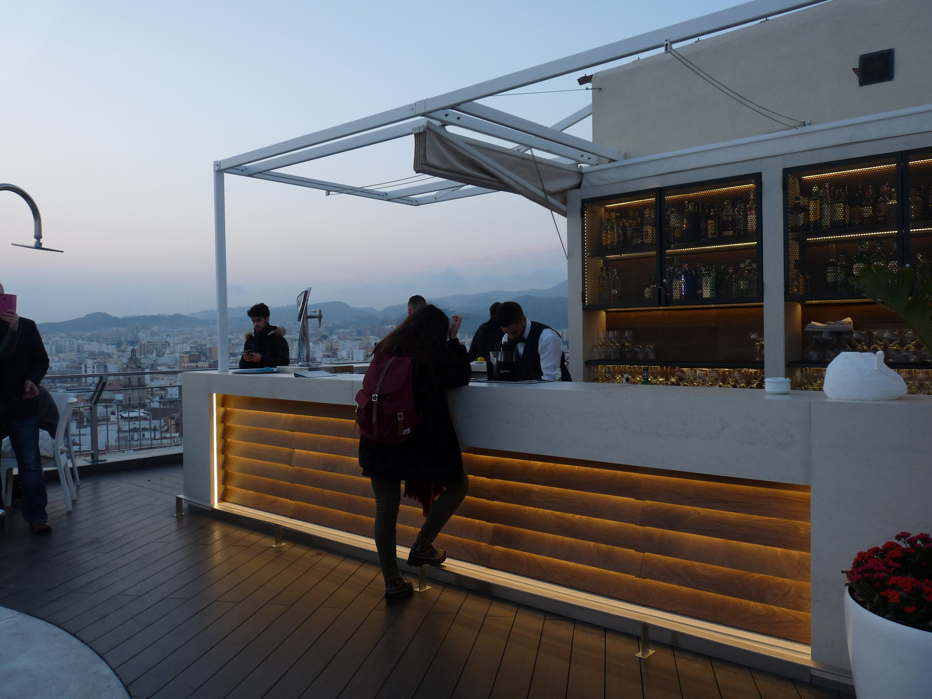 AC Hotel Malaga Palacio - a place where you can drink and admire the view on Malaga