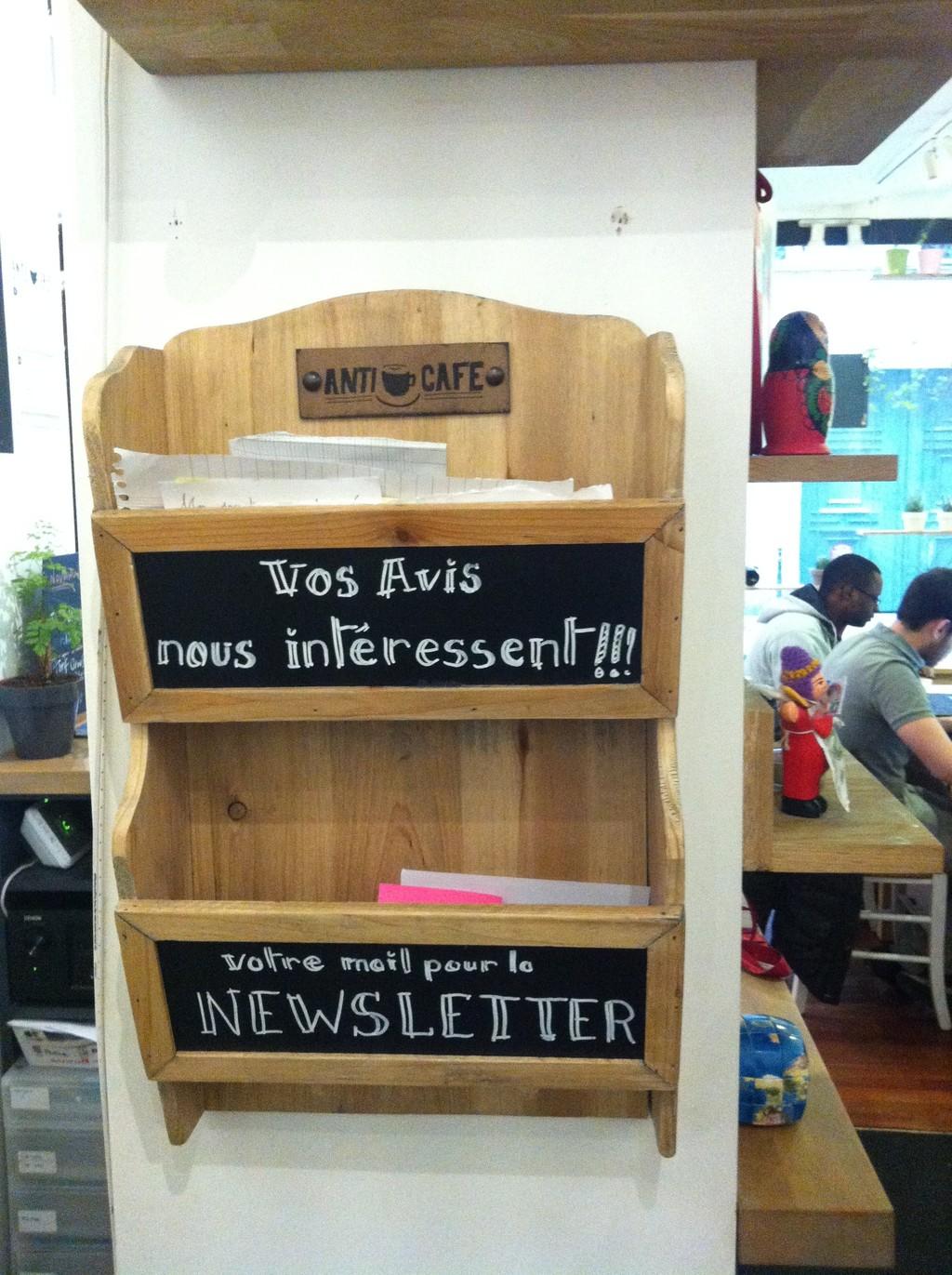 Anticafé Paris | Pozycja obowiązkowa