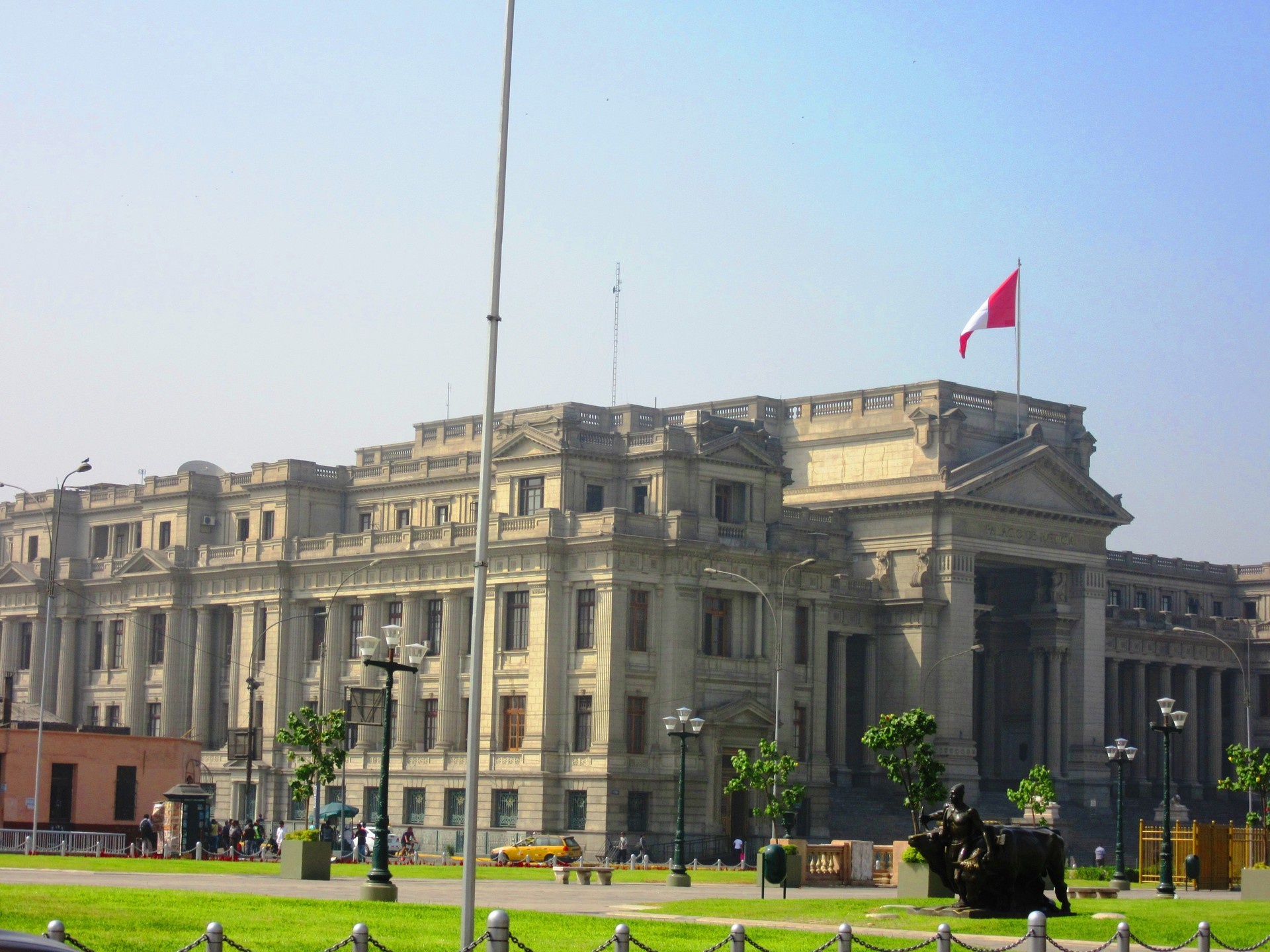 Arquitectura bella en el centro de Lima