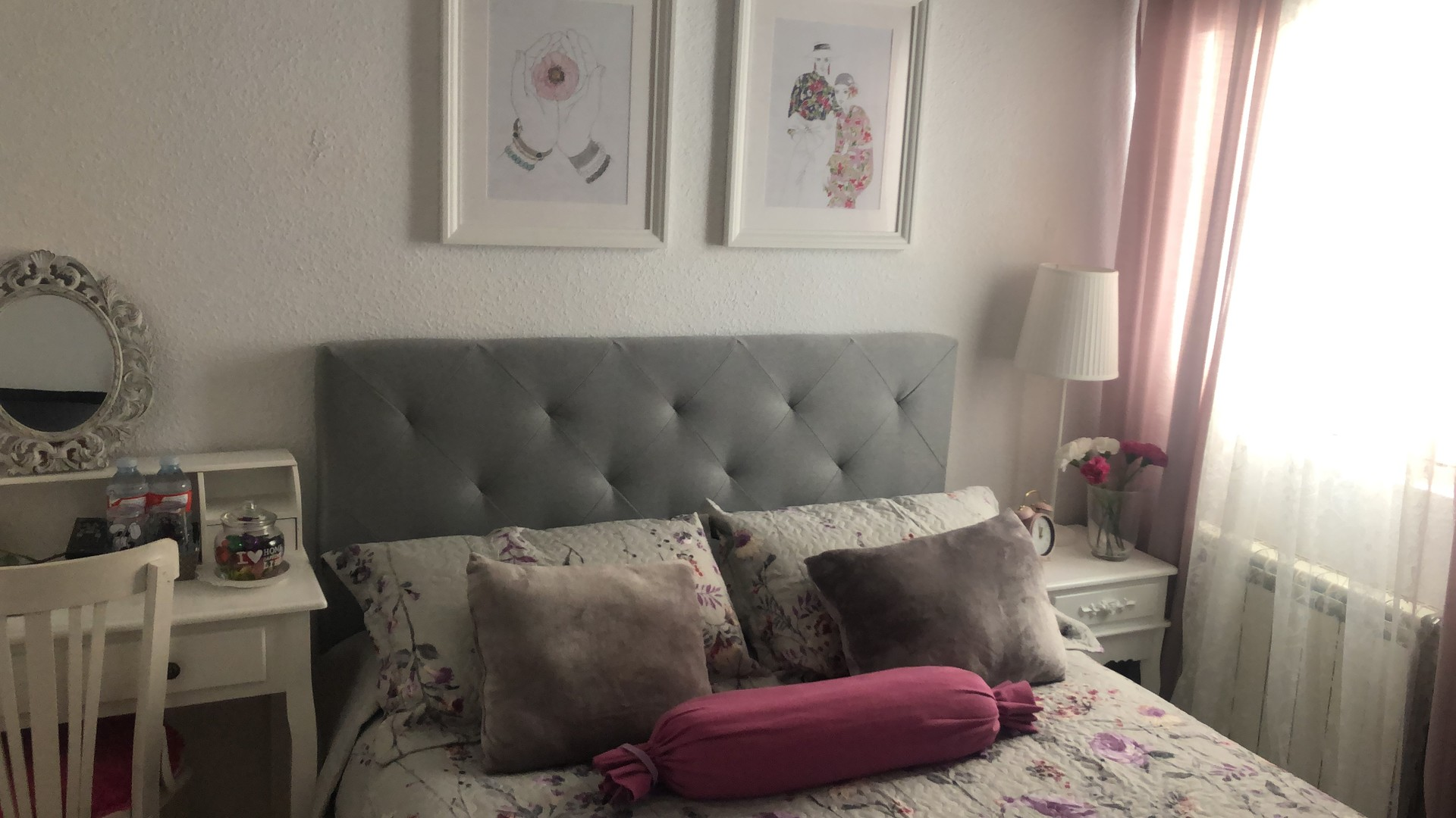 Habitación estilo romántico solo chicas.