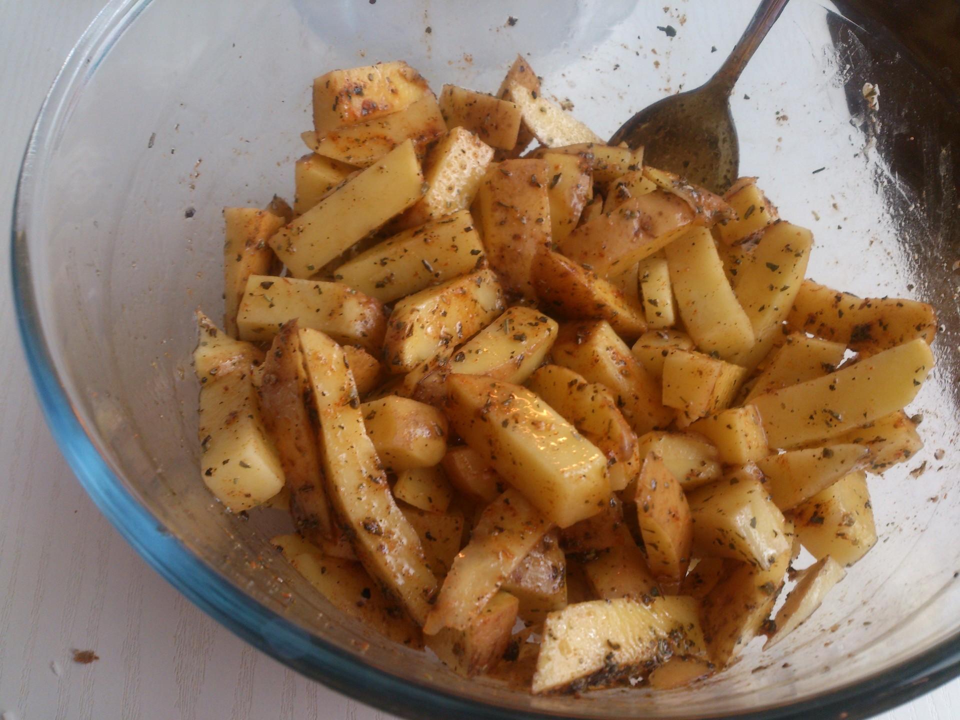 Batatas fritas em forno de halogéneo