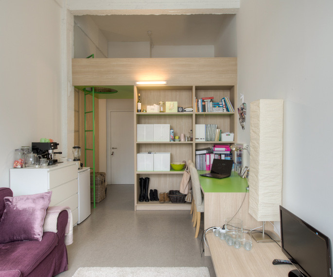 Modern College Dorm Rooms