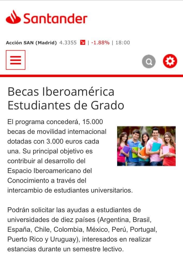 Beca Santander para grados