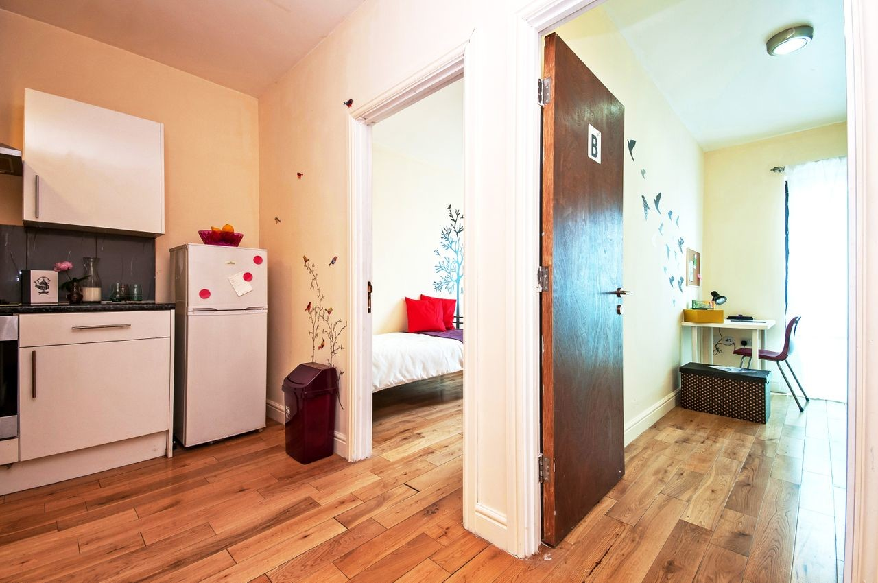 a bed in a deluxe rooms  available perfect for a student.