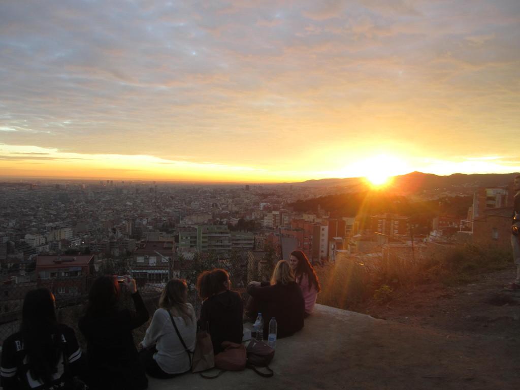 Sonnenuntergang Barcelona Heute