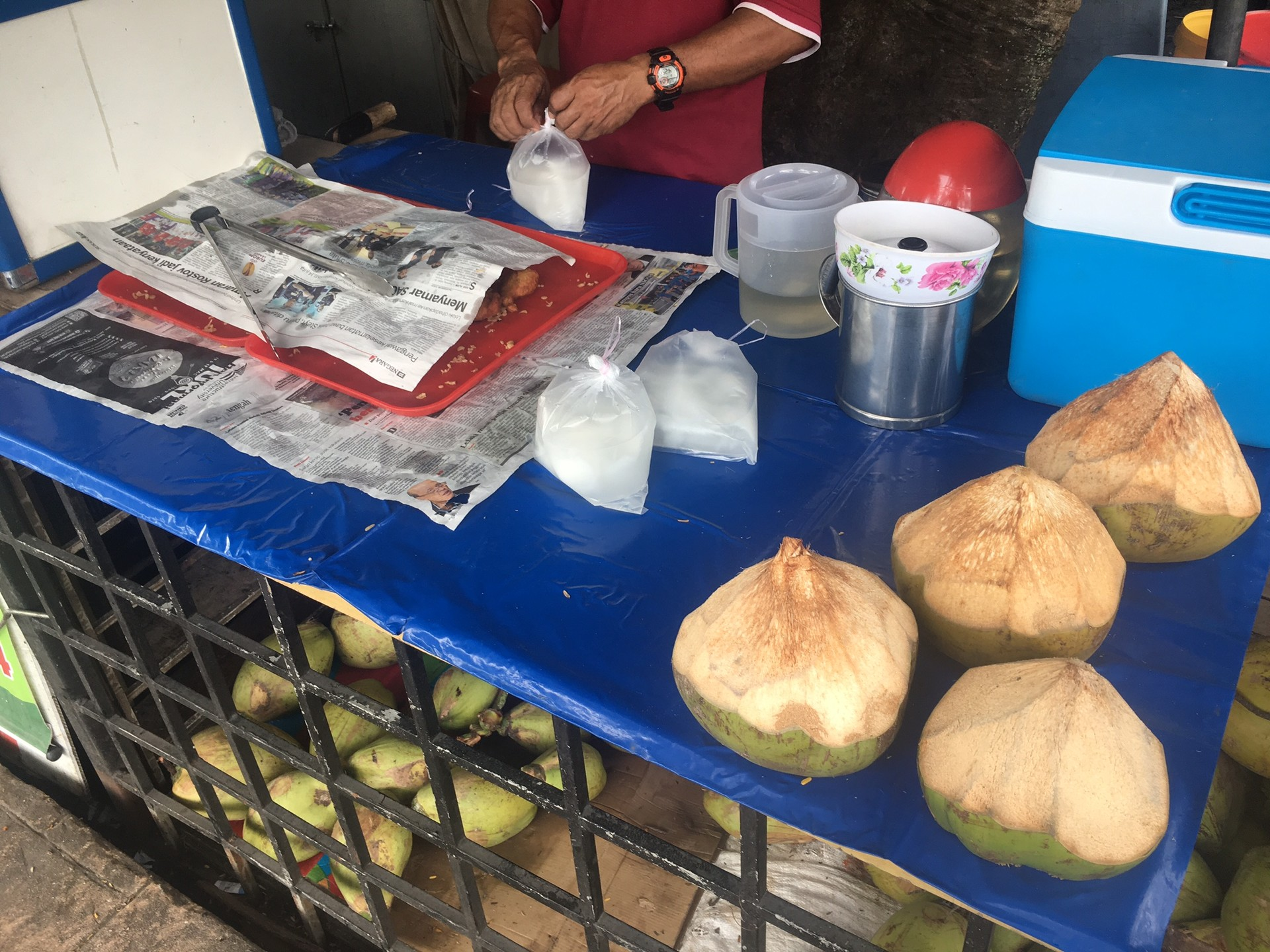 Cocos al estilo de Kuala Lumpur