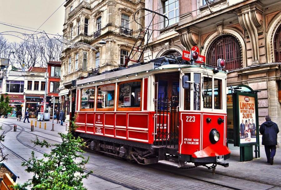 De hoofdstad van Istanbul. de Istiklal straat
