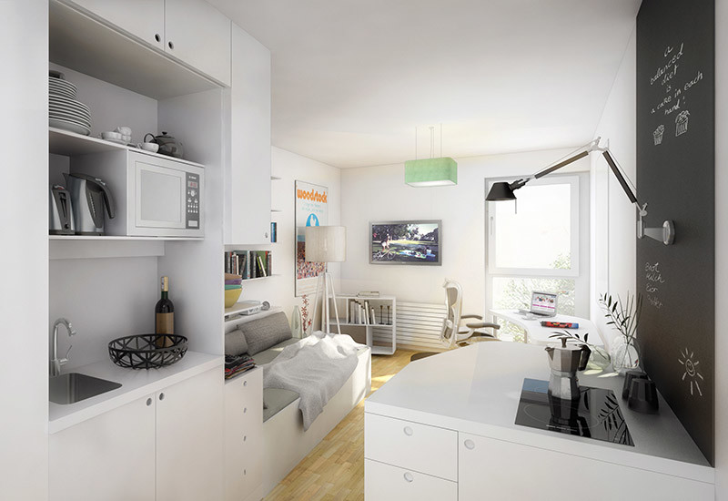 Departament In A Residence For Students With Kitchen And