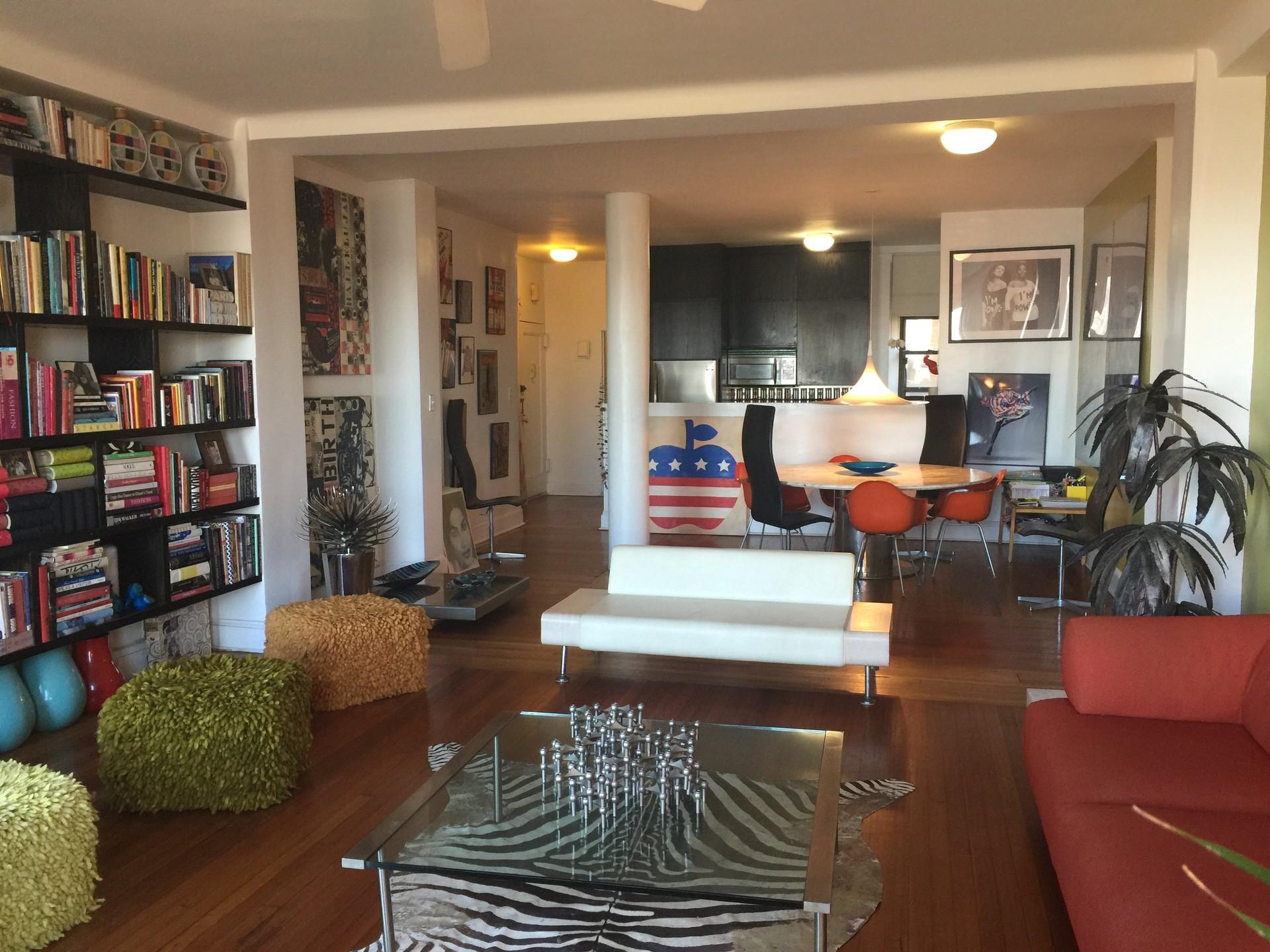 Designer loft appartement  Upper west side spacieux très lumineux vue sur l  Hudson River doorman building 7 étage