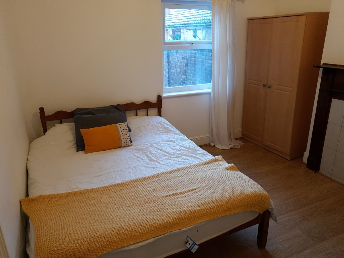 Double Room  comes fully furnished with double bed, desk and cha