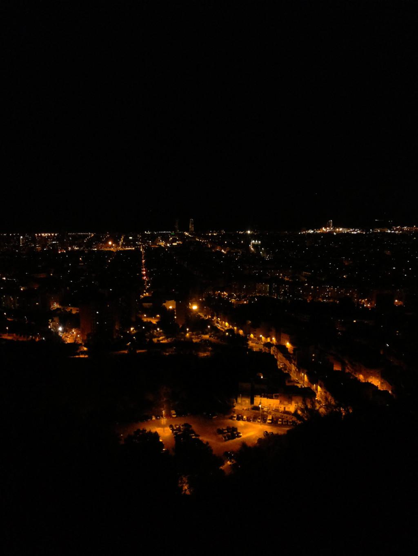 Een vol uitzicht van Barcelona