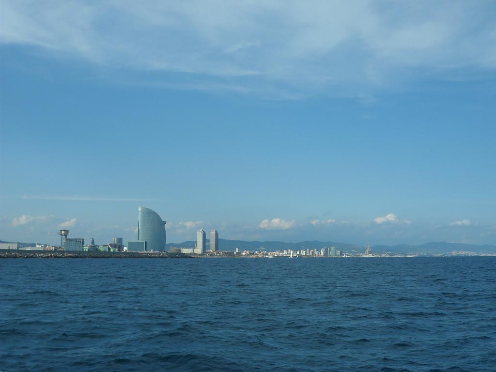 En el mar de Barcelona